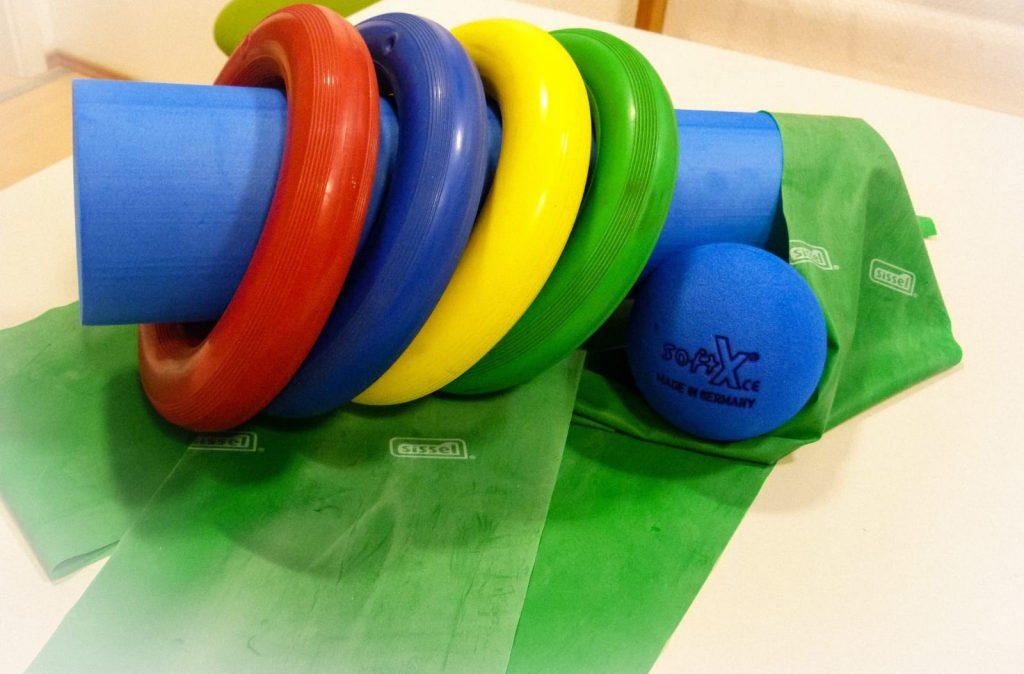 Ringe, Bälle und Flexbänder